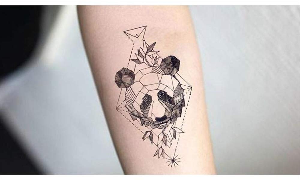 Tatuajes temporales para hombre y mujer, diseño de panda ...