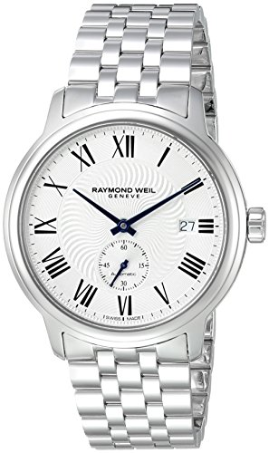 Raymond Weil Men's 'Maestro' Swiss Automatic Stainless Steel Casual Watch, Color:Silver-Toned (Model: 2238-ST-00659)