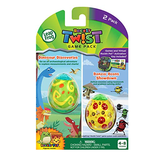 LeapFrog RockIt Twist Dual Game Pack: Dinosaur Discoveries and Banzai Beans Showdown (Pocket Rockets Game)