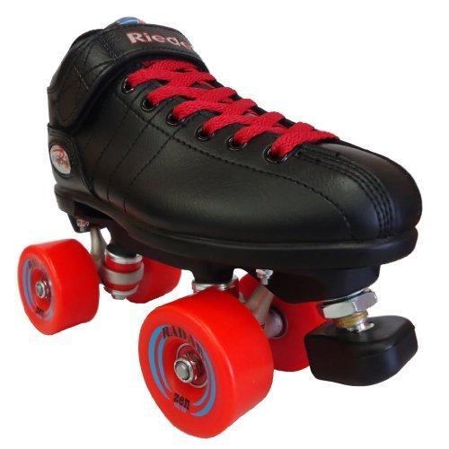 Riedell R3 Zen Red Outdoor Speed Skates - R3 Zen Roller Derby Skate