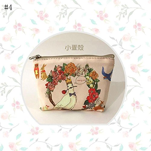 Amapower New Women Wallet Change Pouch Canvas Coin Purse Animal Printed Key Holder