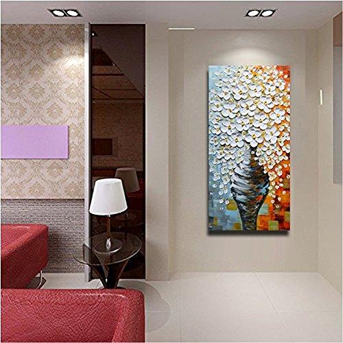 3D Oil Paintings On Canvas Elegant White Vase