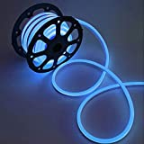 WYZworks Blue Flexible Water Resistant Soft Single Side LED Neon Rope Light Strip Bar 100FT