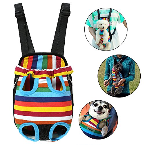 Homdox Bicycle Front Dog Carriers Portable Convenient Lightweight Outdoor Travel Pet Carrier Free Your Hands Safe to Carry Your Pet M