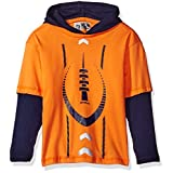 RBX Little Boys' Long Sleeve Active Tee Shirt, Vibrant Orange, S(4)