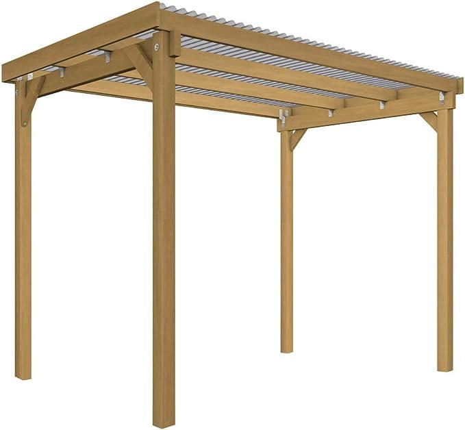 GHS Refugio de 3 x 2 m, überdachung para jardín Dispositivos + Muebles de jardín