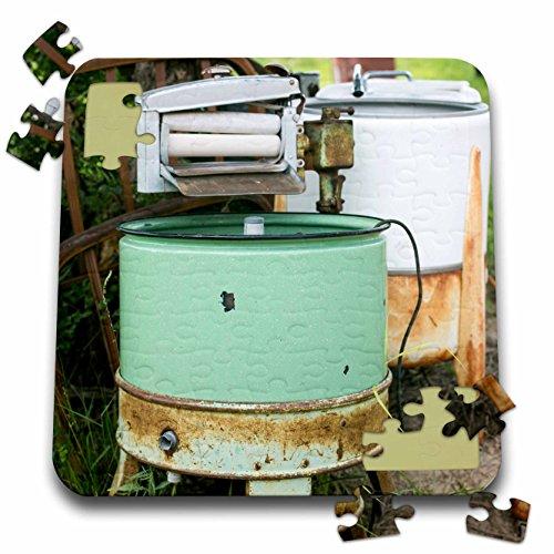 3dRose Danita Delimont - Tucumcari - Tucumcari, New Mexico, USA. Route 66. Antique washing machines - 10x10 Inch Puzzle (pzl_251223_2)