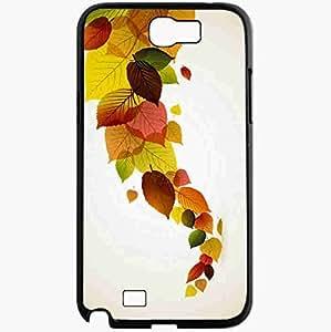 Unique Design Fashion Protective Back Cover For Samsung Galaxy Note 2 Case Autumn Leaves Art Nature Black