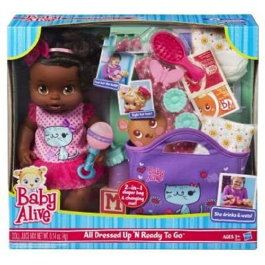 Baby Alive All Dressed Up N' Ready To Go Doll - African American by Baby Alive