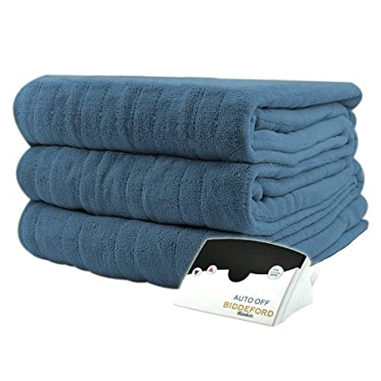 Pure Warmth MicroPlush Electric Heated Blanket Twin Blue best twin electric blanket