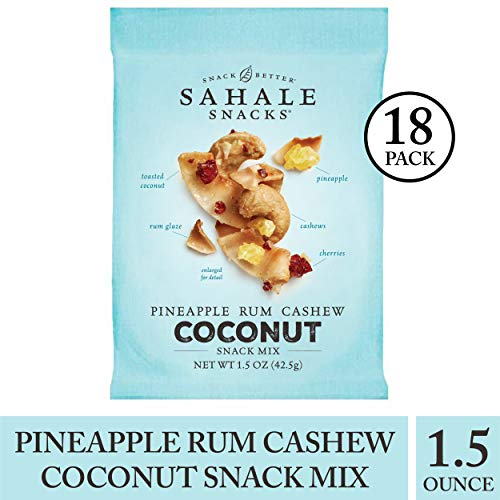 Sahale Snacks Pineapple Rum Coconut Snack Mix, 1.5 Ounces, 18 Count