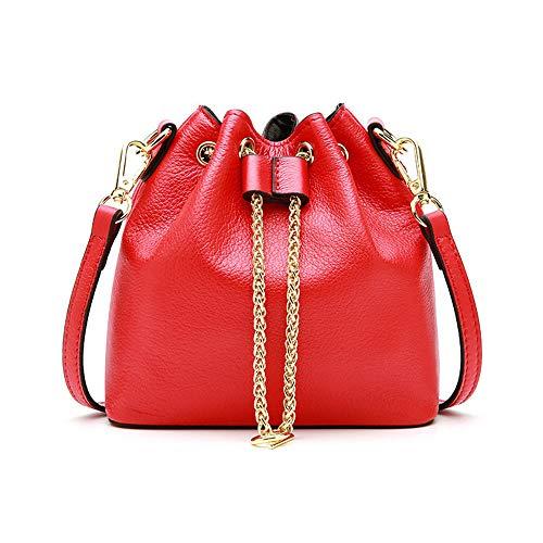 Dames Pour Ethba Onesize Taille À Cuir Sac Seau couleur Red La Mode Besace En Kaki zZFz8