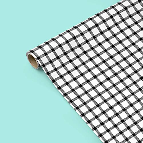 "Black and White Gingham Wrapping Paper - Set of Three Sheets 20"" x 29"" - Fathers Day, Groom, Wedding, Christmas, Hanukkah, Modern, Boy, Girl, Scrapbooking, Craft Paper from The Eclectic Chic Boutique"