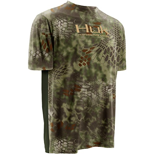 HUK Performance Fishing Mens Kryptek Icon Short Sleeve, Kryptek Mandrake,