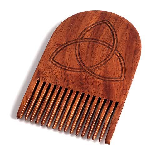 Mjolnir Thor's Hammer Beard Comb, Mens Wooden Facial Hair Brush - Beard Gains -