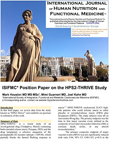 ISIFMC* Position Paper on the HPS2-THRIVE Study: *International Society of Integrative, Functional and Metabolic Cardiovascular Medicine (ISIFMC)