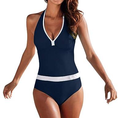 Poachers Traje de baño Mujer una Pieza Deportivo bañadores de Mujer Tallas Grandes bañadores de Mujer Sexy brasileña Desnudos Mujeres Bikinis Mujer ...