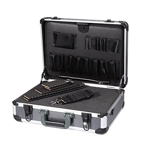 Aluminum Hard Tool Box Case Portable Carrying Case Briefcase Flight Cases Tool Case Organizer Toolbox Storage (Locking Aluminum Case)