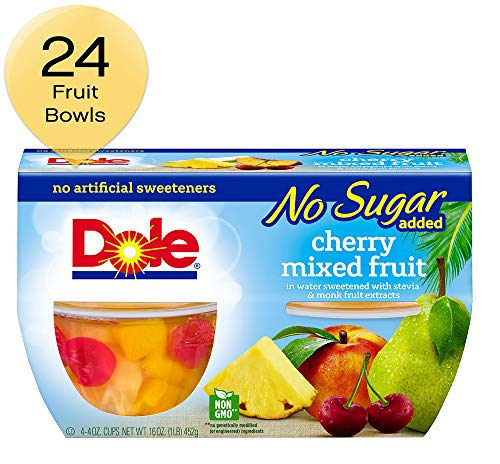 Dole Fruit Bowls, Cherry Mixed Fruit, 4 Cups (Pack of 6)