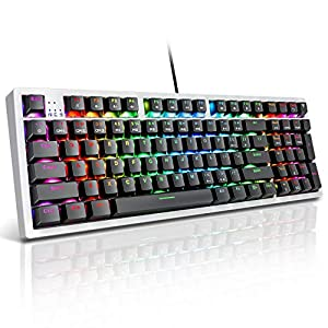 victsing rgb mechanical gaming keyboard compact