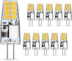 AMBOTHER G4 LED Ampoule 3W Remplacer Lampes Halogènes 35W Lampes Led Blanc Chaud 3000K Ampoule G4 LED 12V AC/DC 350Lm Pas...