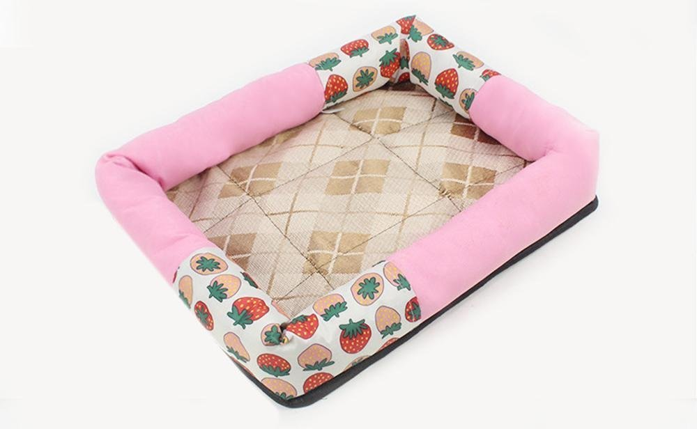 B 40x31x6cmYunYilian Pet Bolster Dog Bed Comfort Kennel Dog mat (color   B, Size   40x31x6cm)