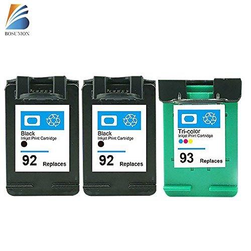BOSUMON Remanufactured Ink Cartridges Compatible for Hp 92 Hp 93 Photosmart C3135 C3140 C3150 C3180 C4180 7850