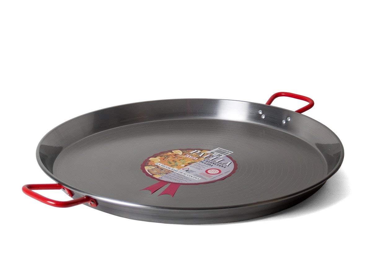 Garcima 22-Inch Carbon Steel Paella Pan, 55cm by La Paella