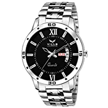 Vills Laurrens Analogue Black Dial Men's Watch