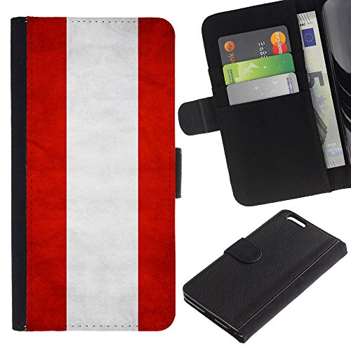EuroCase - Apple Iphone 6 PLUS 5.5 - Austria Grunge Flag - Cuir PU Coverture Shell Armure Coque Coq Cas Etui Housse Case Cover