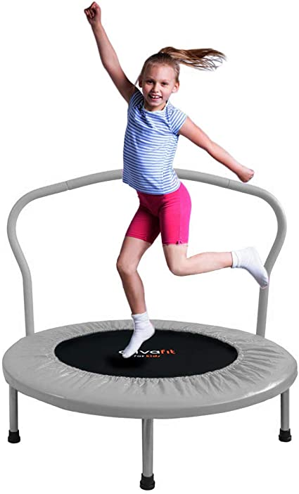 ATIVAFIT 36-Inch Folding Trampoline Mini Rebounder  for Two Kids