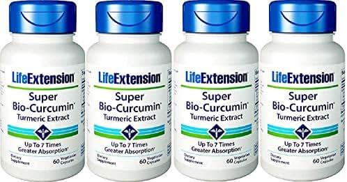 Life Extension Super Bio-Curcumin 400mg, 60 Vegetarian Capsules - 4-Pak