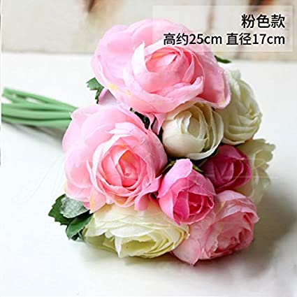 Amazon artificial flowers desktop simulation flower artificial artificial flowers desktop simulation flower artificial flower corsage silk flower living room decorative flower pink mightylinksfo