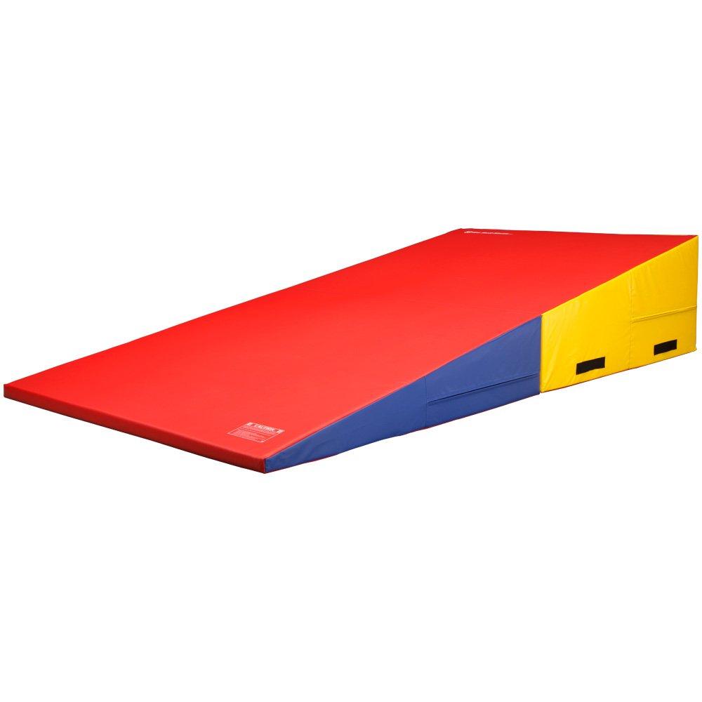 wedge shape tumbling cheese skill best mats incline x products folding choice mat gymnastics purple pink