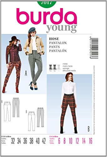 Burda Sewing pattern 7017 Burda Style Pants young Trousers
