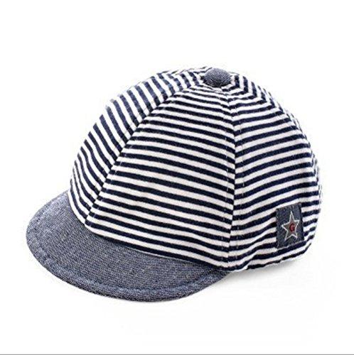 Jewby Newborn Handmade Hat, Cotton Soft Cap For Babies 3-12 Months (Deep (Handmade Baseball)
