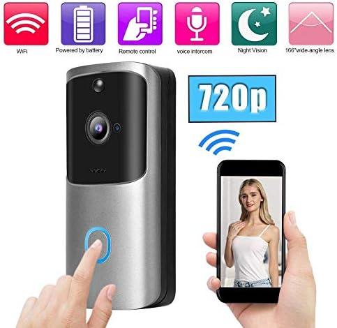 ドアベル、720PワイヤレスWIFIドアベルスマートビデオインターホンドアホンセキュリティカメラ、防水ドアベル