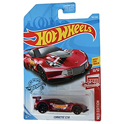 Hot Wheels Red Edition 11/12 Corvette C7.R 193/250, red: Toys & Games