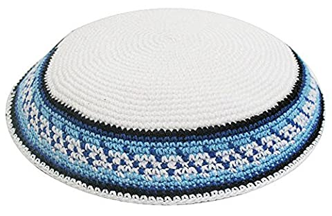 Zion Judaica Knit Quality Kippot for Affairs or Everyday Use Single or Bulk Orders - Optional Custom Imprinting Inside for Any Event (1PC, - 20101 Cap