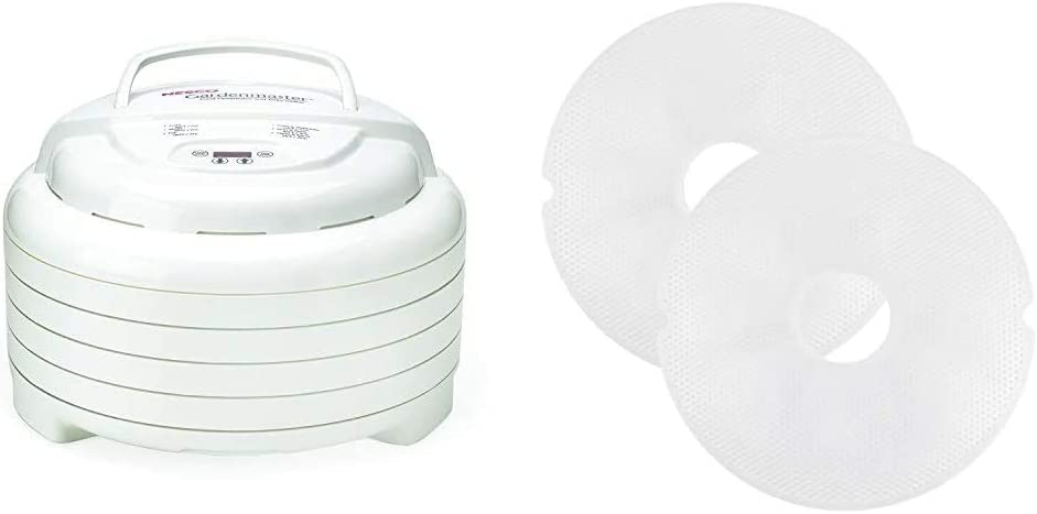 Nesco Gardenmaster Food dehydrator, White & Snackmaster Clean dehydrator screen, One Size, White