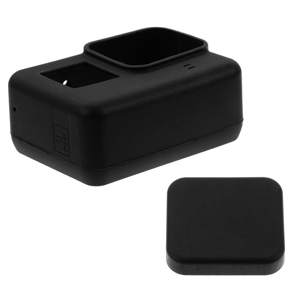 Zacro 24 en 1 Kit daccessoires Protective Bo/îtier /étanche pour GoPro Hero 6//5 /Étui de protection en silicone avec 3 LCD Protecteur d/écran et 3 film protecteur dobjectif Noir Action Cam/éra