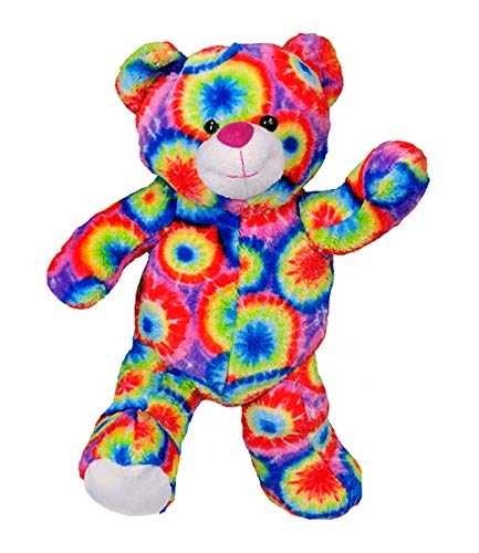 Stuffems Toy Shop Record Your Own Plush 16 inch Tie Dye Teddy Bear - Ready to Love in A Few Easy Steps