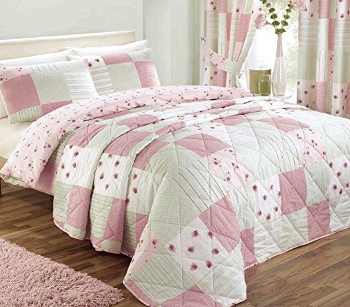 Dreams 'n' Drapes Patchwork-Tagesdecke, für Einzelbetten, rosa