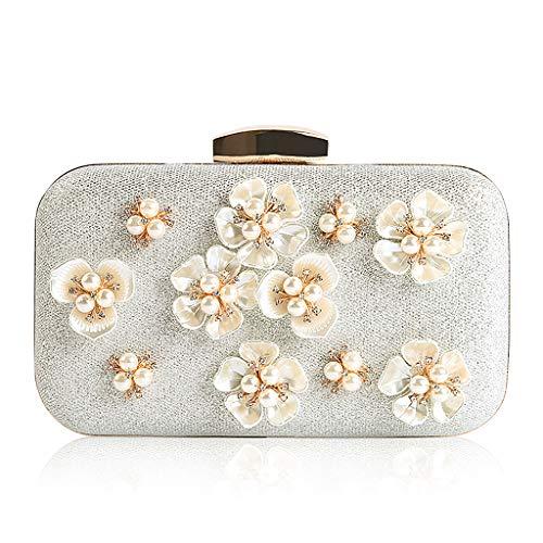 pour 8 à Wanfor Argent pampille Pochette à à élégant Luxe chaîne femmes à COLORS pour mariage embrayage fleurs ZqOHgZw