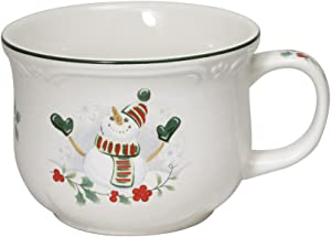 Pfaltzgraff Winterberry Snowman Jumbo Soup Mug, 26-Ounce