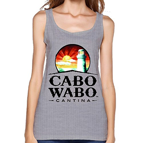 (Quliuwuda Women's Cabo Wabo Logo Muscle Gym Gray Tank XXL Tank Tops)