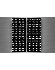 Akachafactory Stickervel met cijfers, letters, alfabet, cijfers R7