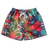 iHENGH Women's Shorts Swim Trunks Quick Dry Beach Surfing Running Swimming Watershort(Red,Small)