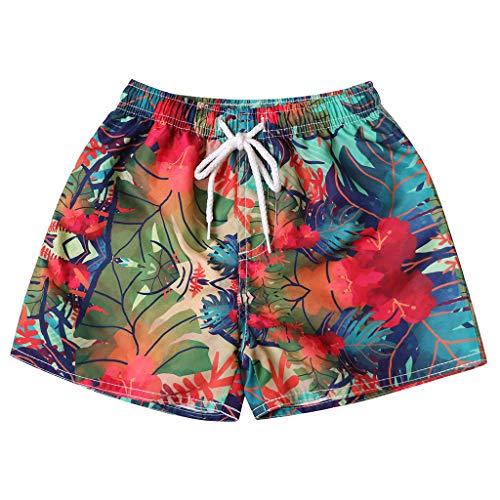 Simayixx Women Shorts Plus Size, Womens Teens Board Pants Adjustable Bikini Lace Swim Short Beach Swimwear Trunks Bottoms Red