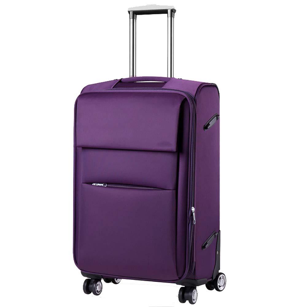 男性と女性のためのトラベラー荷物キャスターボックス旅行荷物スーツケーススーツケース20インチ紫   B07KV12YCN